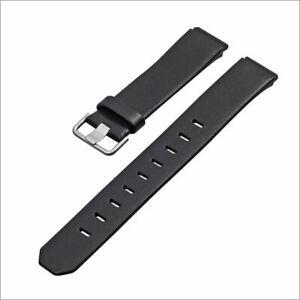 JACOB JENSEN Uhrband strap Uhrenarmband original Leder black 17 mm Einschubband