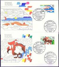 Berlin 1986: Show jumping and Swimming! Sports aid-FDC with the no. 751 + 752
