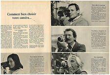 PUBLICITE ADVERTISING  054  1977  CANON  caméra  310 XL ( 2 pages)