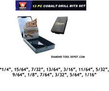 Neiko Super-Hard 13 Pcs Cobalt Drill Bit Set
