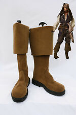 Captain Jack Sparrow Adult Boots Pirates of the Caribbean Shoes *Custom-Made*