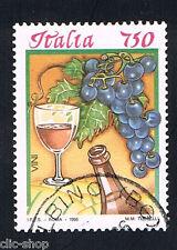 ITALIA 1 FRANCOBOLLO I CIBI ITALIANI VINO ROSSO 1996 usato