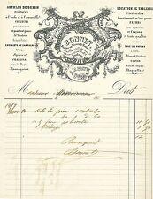 Dépt 33 - Bordeaux - Superbe Facture Articles de Dessin A La Palette d'Or - 1857