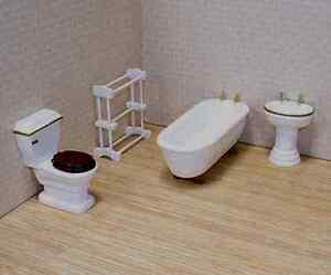 Dollhouse Furniture 4pc.BATHROOM SET  #2584~ scale1:12 ~Melissa & Doug