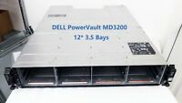 "Dell PowerVault MD3200 3.5"" 12-Bay SAS Storage Array w/ 2x N98MP 4Port SAS Ctlrs"