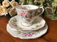 Vintage Royal Albert Bone China Trio Tea Cup Saucer Side Plate Shabby Chic Gold