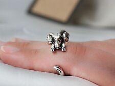 Adjustable Antique Silver Ram Ring