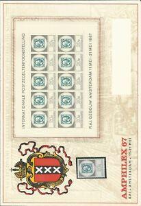 Nederland V886-888  MNH/postfris en Ongelopen Enveloppen tentoonstelling CV 60 €