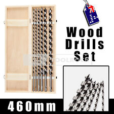 Toolrock Twist Auger Wood Drill Bits Set -6pc 460mm Timber Carpentry Woodworking