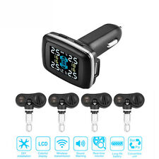 Car Auto Wireless TPMS Tyre Pressure Monitoring Alarm System built -in Sensors S