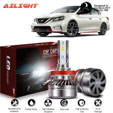 LED Headlight Kit H11 6000K White Low Beam Fog Bulb for NISSAN Sentra 2013-2019