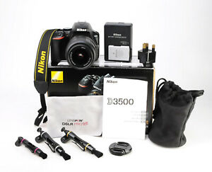 Nikon D3500 DSLR Camera +  AF-S 18-55mm VR Lens Kit - 2,450 Shots - EXC