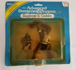 MOC 1983 TSR BUGBEAR & GOBLIN Advanced Dungeons & Dragons PVC monster toy LJN !!