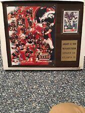Super Bowl XXXIII Plaque Of Back To Back Champions Denver Broncos Elway Davis $$