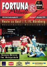 DFB-Pokal 95/96 Fortuna Düsseldorf - 1. FC Nürnberg, 07.11.1995