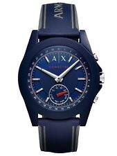 A|X Armani Exchange Connected Men's Blue Silicone Hybrid Smartwatch AXT1002