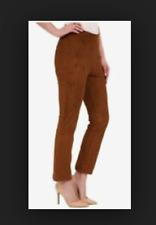 Lysse M Chestnut Brown Micro-Fiber Suede Cropped Legging Pants Shapewear