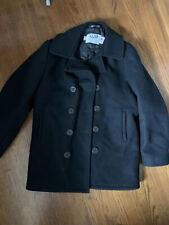 Schott NYC US 740N Pea Coat Jacket Double Breasted Unisex Women sz10 / Men sz38