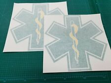 Ambulance 380mm Star of Life decals stickers graphics Emergency First Aid