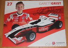 2014 Garett Grist signed DaVinci Andretti Autosport Pro Mazda postcard