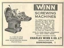 1953 Charles Winn & Co Ltd B'ham Screwing Machines Ad