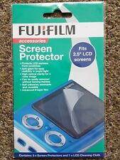 "Fujifilm 3x Screen Protectors with Cloth, for 2.5"" Screens Anti-glare, Reusable"