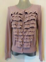 CUTE  LILAC DITSY CARDIGAN BY M&S SIZE 12 WITH WOOL BLEND., 40-s VIBE,