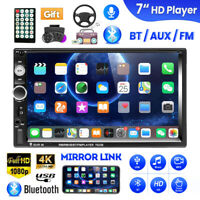 "7"" Double 2 DIN Car Stereo Radio MP5 Player Bluetooth Touch Screen FM USB AUX TF"
