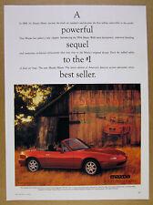 1994 Mazda MX-5 Miata red car old barn color photo vintage print Ad