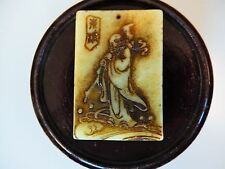 Jade Pendant Shou Figure Antique