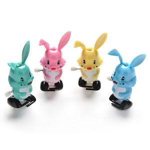 Wind up Rabbit Colorful Funny Somersault Walking Clockwork Kids Child Toy^qi