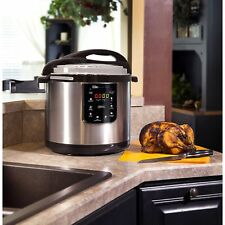Pressure Cooker Programmable Instant Pot Multi Use 10 Qt Stainless Steel 8-in-1