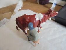 VINTAGE Hill & Co Britains etc PIOMBO Mucca Con Campana E Mungitrice Latte