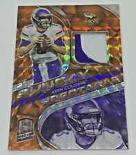 2020 PANINI SPECTRA KIRK COUSINS ORANGE PRIZM PATCH 10/10 SUNDAY SPECTACLE