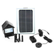 "132 GPH Solar Pump & Solar Panel Kit, Battery Pack, LED Light, 56"" Lift"