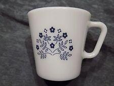 Pyrex Vintage, Blue Flowers Summer Impressions, Set of 4 Mugs, Navy & White, EVC