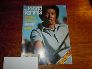 "VINTAGE "" WORLD TENNIS "" MAGAZINE - DECEMBER 1976 - ARTHUR ASHE"