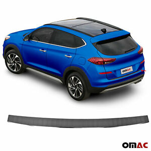 MWJK Carbon Fiber Leather Car Rear Bumper Protector Styling Accessories for Hyundai Tucson
