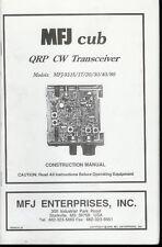 Factory Mfj Cub 9315 17 20 30 40 80 Qrp Cw Radio Transceiver Construction Manual