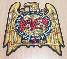 1xNEW SLAYER ROCK BAND HEAVY METAL SYMBOL EMBROIDERED IRON ON PATCH SHIRT PO48