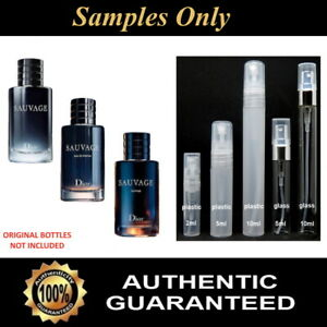 DIOR SAUVAGE ( EDT, EDP, PARFUM ) 2ml / 5ml / 10ml Samples Only - 100% Genuine