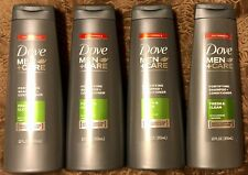 4 Bottles Dove Men + Care 2 in 1 Shampoo + Conditioner Fresh & Clean 12 OZ Each