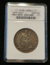 1846O Seated Liberty Half ANACS EF40 Details Extremely Nice Graded Coin!