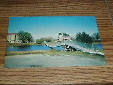 Famous Wolseley Swinging Bridge Wolseley Saskatchewan Postcard