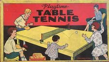 VINTAGE 1940S PRESSMAN'S PLAYTIME TABLE TENNIS GAME