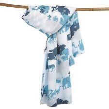 Muslin Swaddle Baby Blanket Bamboo Cotton XL Bertie's Blankets Blue Boy Unisex