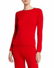 XL CASHMERE LOUNGE SET - RED  NEIMAN MARCUS CREW NECK TOP AND STRAIGHT LEG PANTS