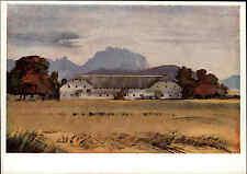 Künstlerkarte ~1940/50 Vierkant-Hof bei Laakirchen Kunst von E.A. v. Mandelsloh