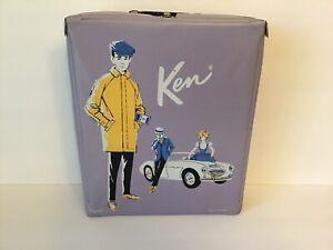 Vintage 1962 Mattel Ken Doll Vinyl Carrying Case Lavender
