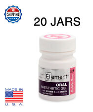 20x Element 20% Benzocaine Anesthetic Gel Bb Gum Dermaroller Micro Needle